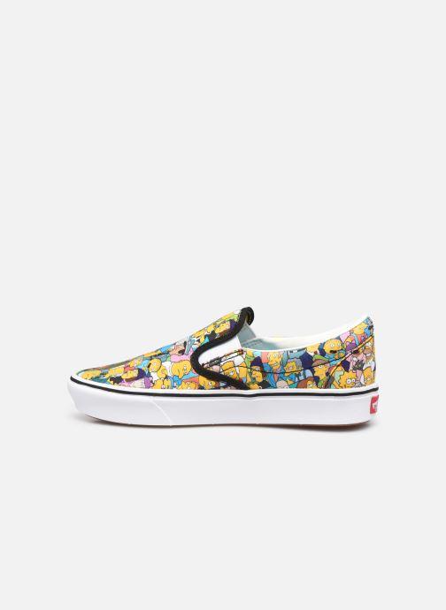 Sneaker Vans UA ComfyCush Slip-On X The Simpsons W gelb ansicht von vorne