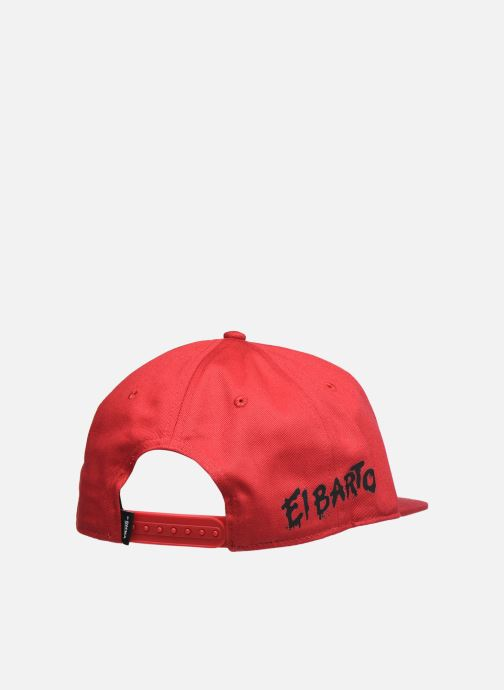 Cappellino Vans Vans X The Simpsons Snapback Rosso modello indossato