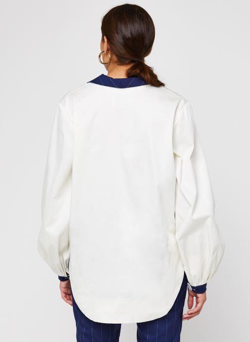 Vêtements Sarenza x Salut Beauté Chemise Sailor Blanc vue portées chaussures