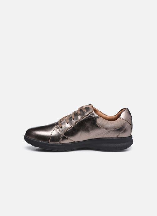 Sneakers Clarks Unstructured Un Adorn Lace Largeur E Zilver voorkant