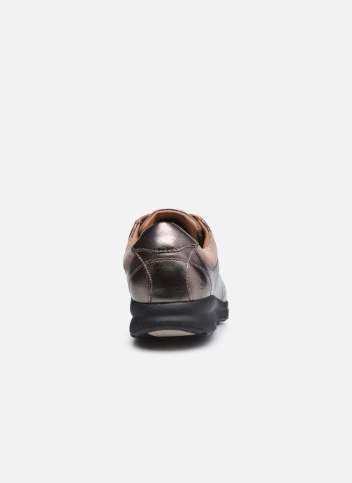 Sneaker Clarks Unstructured Un Adorn Lace Largeur E silber ansicht von rechts