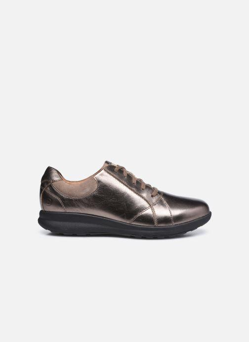 Sneakers Clarks Unstructured Un Adorn Lace Largeur E Zilver achterkant