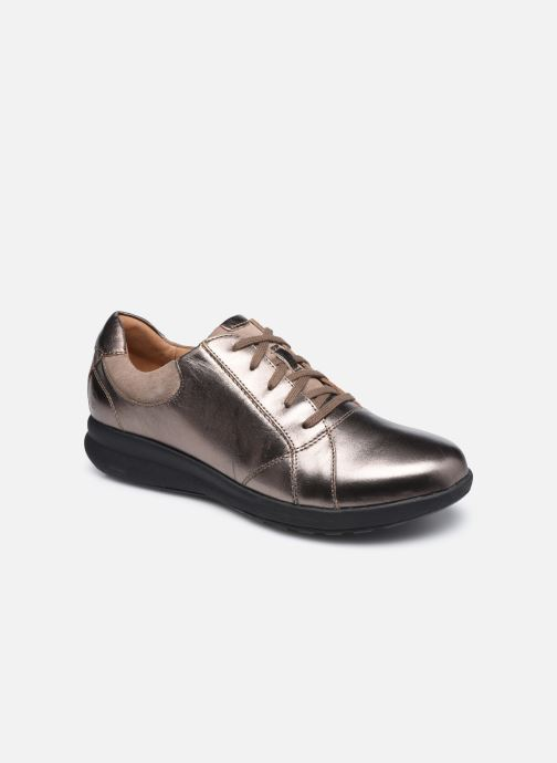 Sneaker Clarks Unstructured Un Adorn Lace Largeur E silber detaillierte ansicht/modell