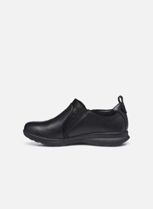 Sneakers Clarks Unstructured Un Adorn Zip Largeur E Nero immagine frontale