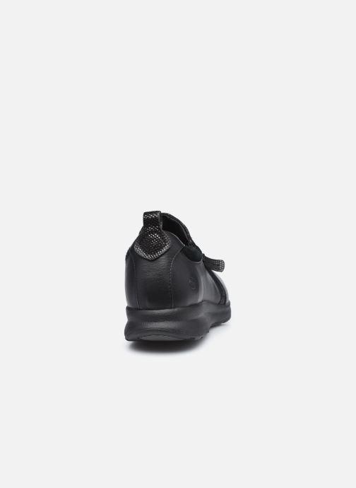Baskets Clarks Unstructured Un Adorn Zip Largeur E Noir vue droite
