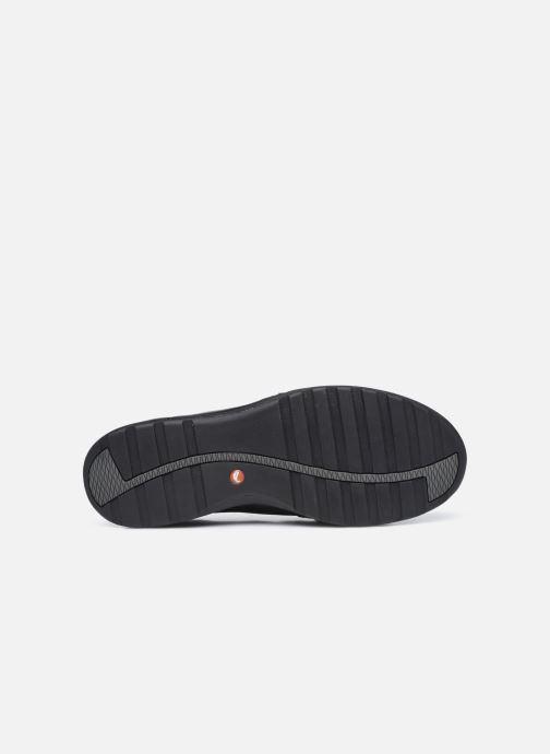 Baskets Clarks Unstructured Un Adorn Zip Largeur E Noir vue haut