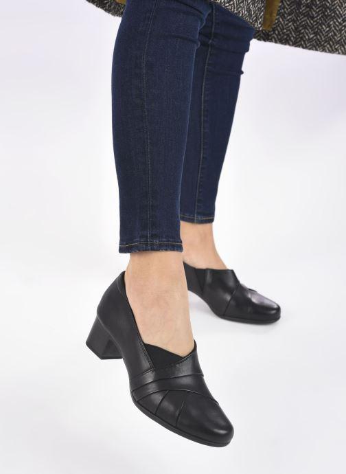 Bottines et boots Clarks Unstructured Un Damson Adele Noir vue bas / vue portée sac