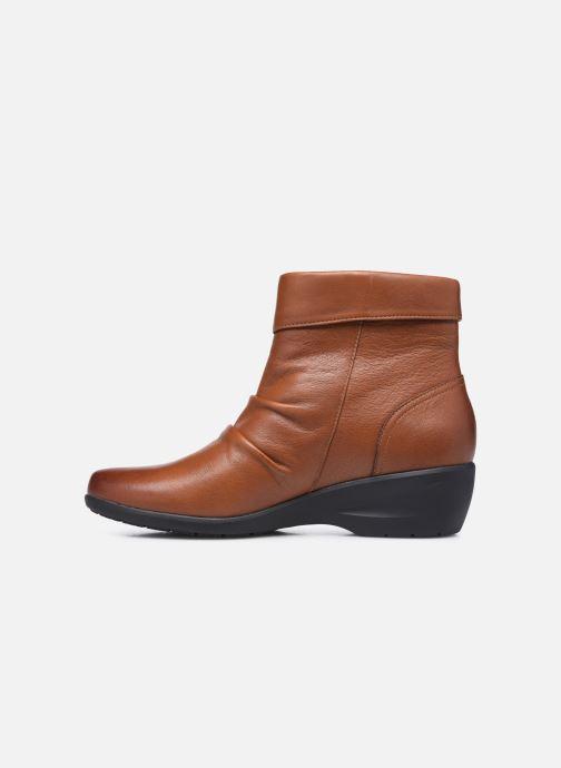 Stiefeletten & Boots Clarks Unstructured Rosely Zip braun ansicht von vorne