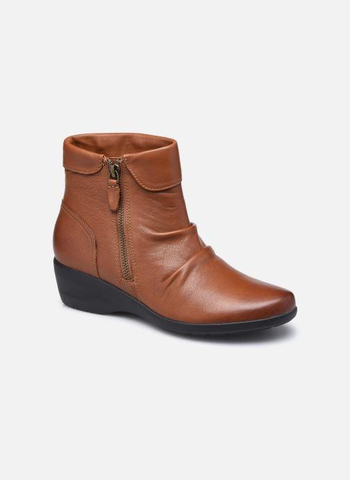 Stiefeletten & Boots Clarks Unstructured Rosely Zip braun detaillierte ansicht/modell