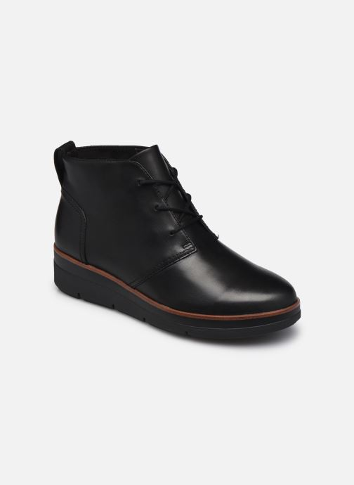 Bottines et boots Clarks Unstructured Shaylin Mid Noir vue détail/paire