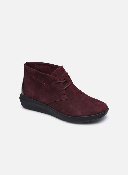Bottines et boots Clarks Unstructured Tawnia Lace Bordeaux vue détail/paire