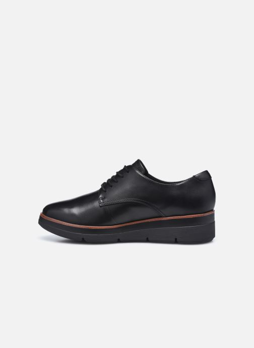 Zapatos con cordones Clarks Unstructured Shaylin Lace Negro vista de frente