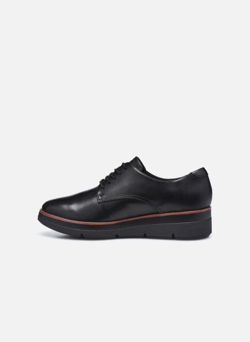 Chaussures à lacets Clarks Unstructured Shaylin Lace Noir vue face