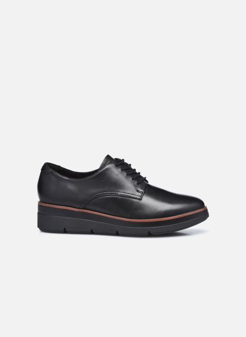 Zapatos con cordones Clarks Unstructured Shaylin Lace Negro vistra trasera