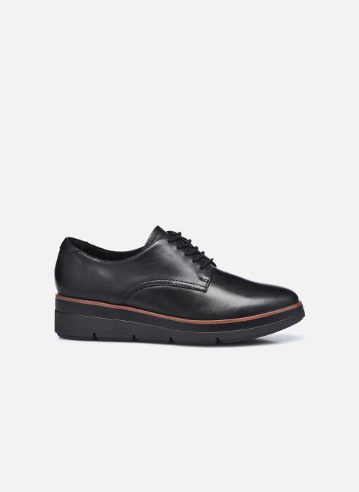 Chaussures à lacets Clarks Unstructured Shaylin Lace Noir vue derrière