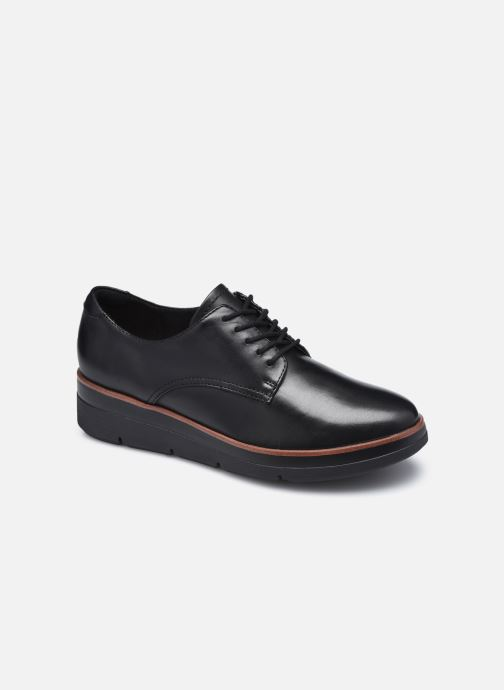 Zapatos con cordones Clarks Unstructured Shaylin Lace Negro vista de detalle / par