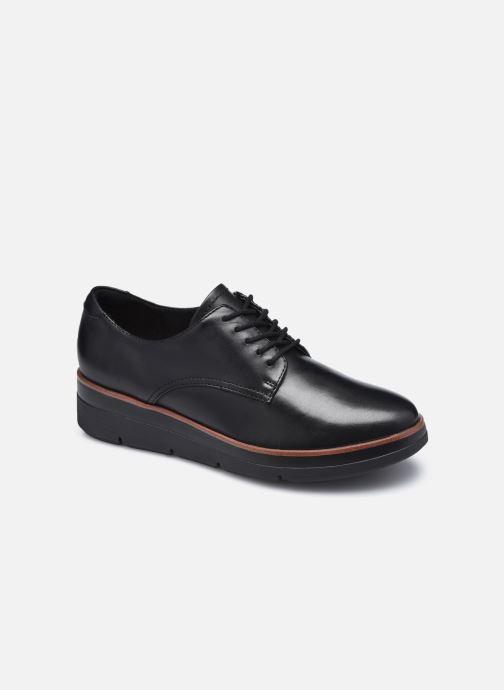 Chaussures à lacets Clarks Unstructured Shaylin Lace Noir vue détail/paire