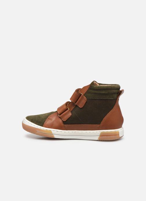 Sneaker Shoo Pom John Bowl Scratch grün ansicht von vorne