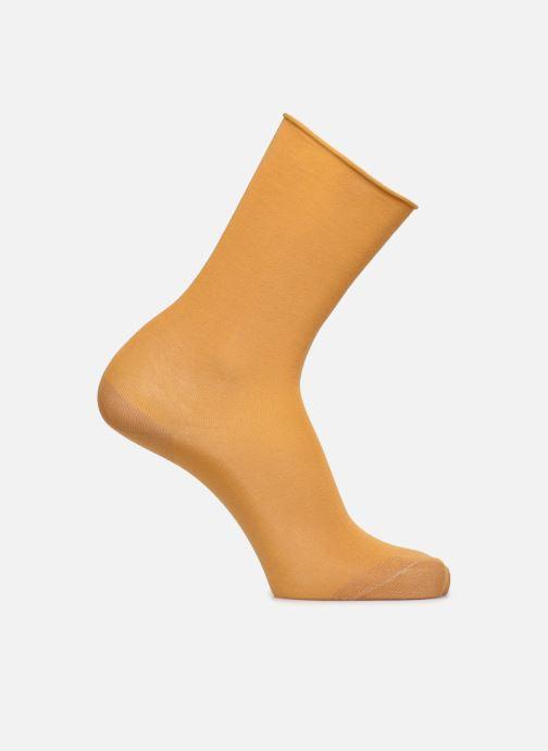 Sokken en panty's BLEUFORÊT CHAUSSETTES VELOUTEES UNIES Geel detail