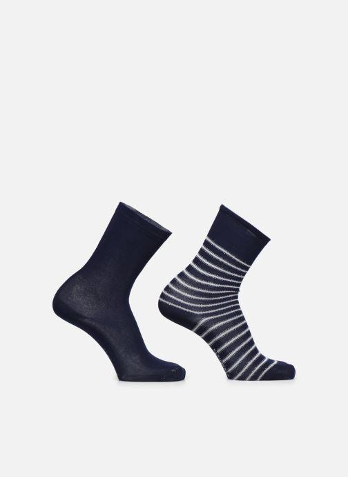 Socken & Strumpfhosen BLEUFORÊT CHAUSSETTES DUO COTON RAYURES blau detaillierte ansicht/modell