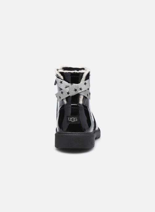Bottines et boots UGG Lynde Patent Noir vue droite