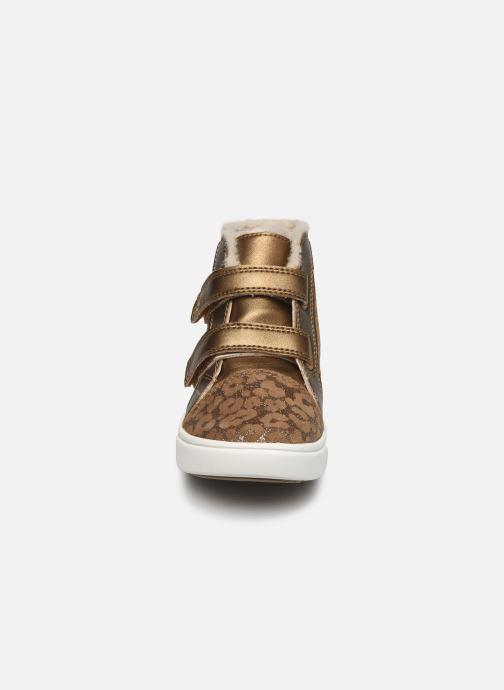 Baskets UGG Rennon II Glitter Leopard Marron vue portées chaussures