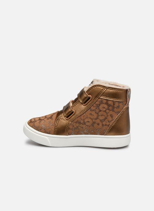 Baskets UGG Rennon II Glitter Leopard Marron vue face