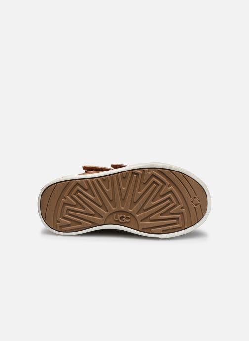 Baskets UGG Rennon II Glitter Leopard Marron vue haut