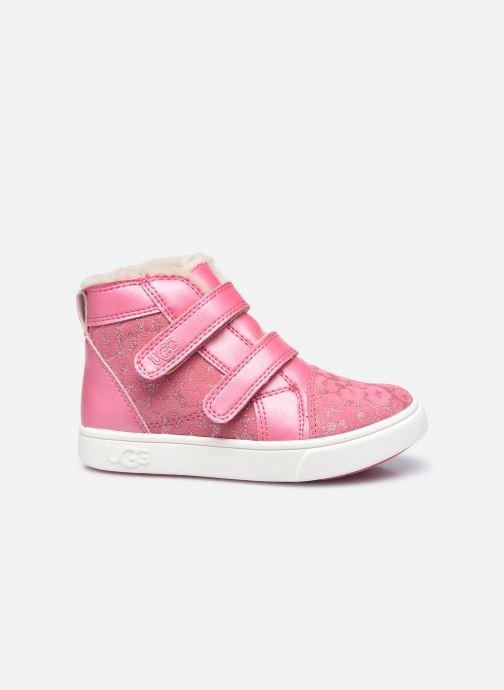 Sneakers UGG Rennon II Glitter Leopard Pink se bagfra