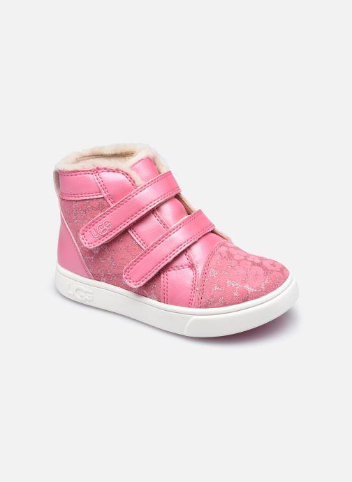 Sneakers UGG Rennon II Glitter Leopard Pink detaljeret billede af skoene