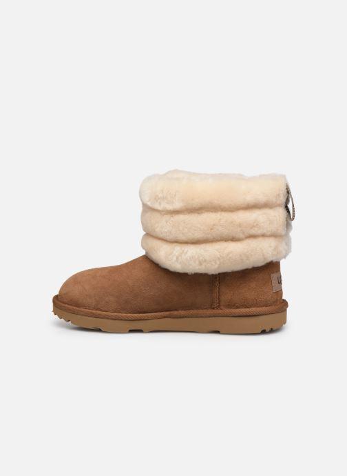 Stiefel UGG Mini Quilted Fluff braun ansicht von vorne
