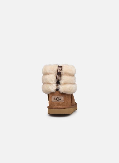 Stiefel UGG Mini Quilted Fluff braun ansicht von rechts