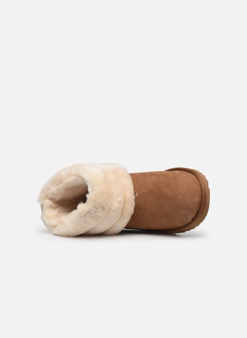 Stiefel UGG Mini Quilted Fluff braun ansicht von links