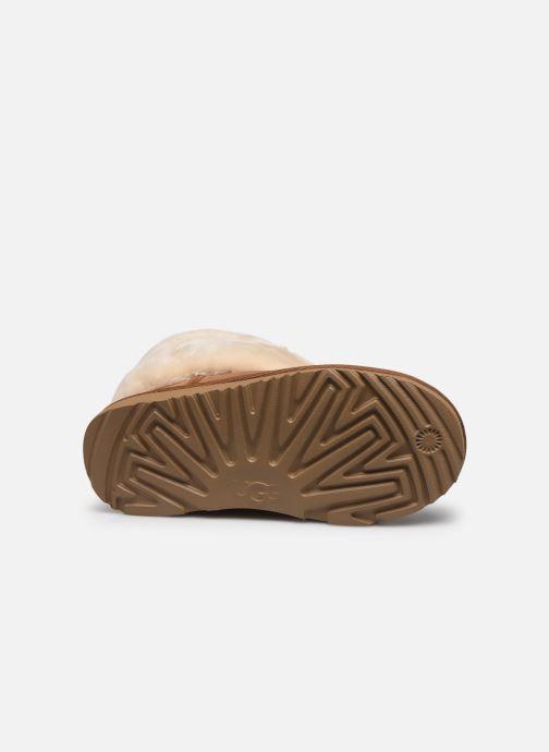 Stiefel UGG Mini Quilted Fluff braun ansicht von oben