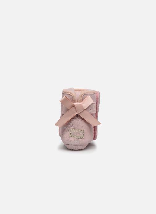 Pantuflas UGG Jesse Bow II Shimmer Rosa vista lateral derecha