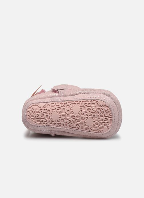 Chaussons UGG Jesse Bow II Shimmer Rose vue haut