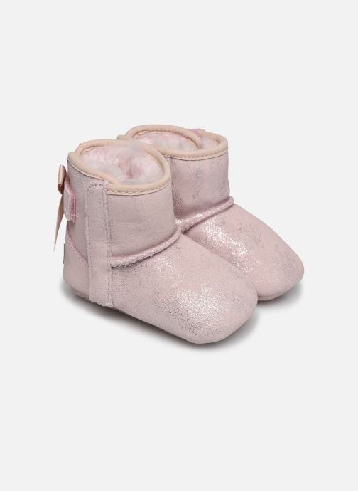 Chaussons UGG Jesse Bow II Shimmer Rose vue détail/paire
