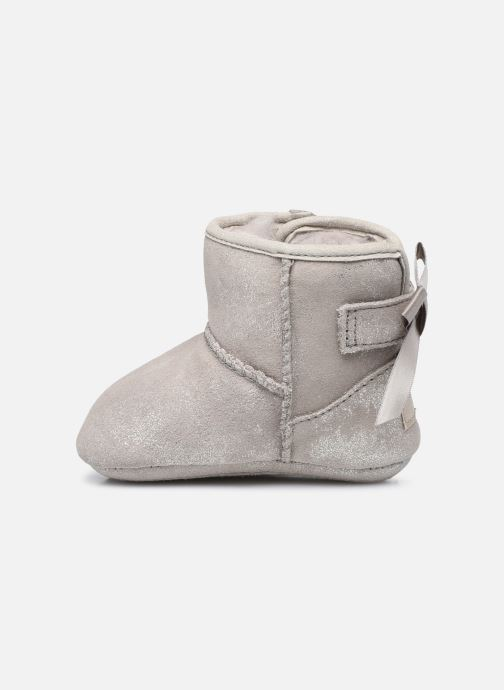 Chaussons UGG Jesse Bow II Shimmer Argent vue face