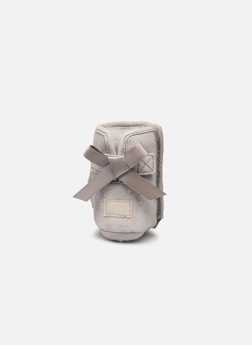 Hausschuhe UGG Jesse Bow II Shimmer silber ansicht von rechts