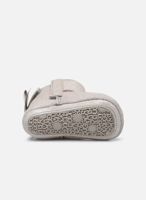 Chaussons UGG Jesse Bow II Shimmer Argent vue haut