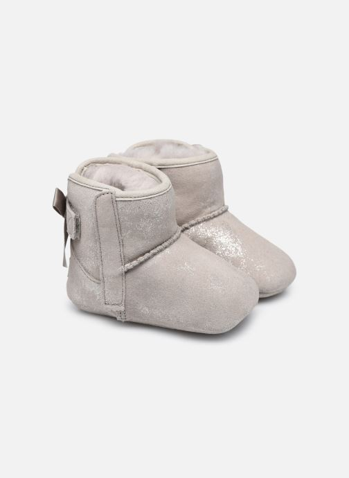 Chaussons UGG Jesse Bow II Shimmer Argent vue détail/paire