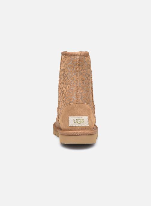 Botas UGG Classic II Glitter Leopard Marrón vista lateral derecha