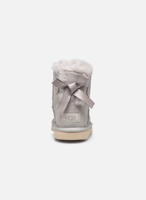 Stiefel UGG Mini Bailey Bow II Shimmer silber ansicht von rechts