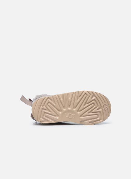 Stiefel UGG Mini Bailey Bow II Shimmer silber ansicht von oben
