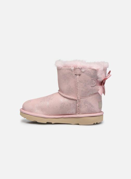 Stiefel UGG Mini Bailey Bow II Shimmer rosa ansicht von vorne