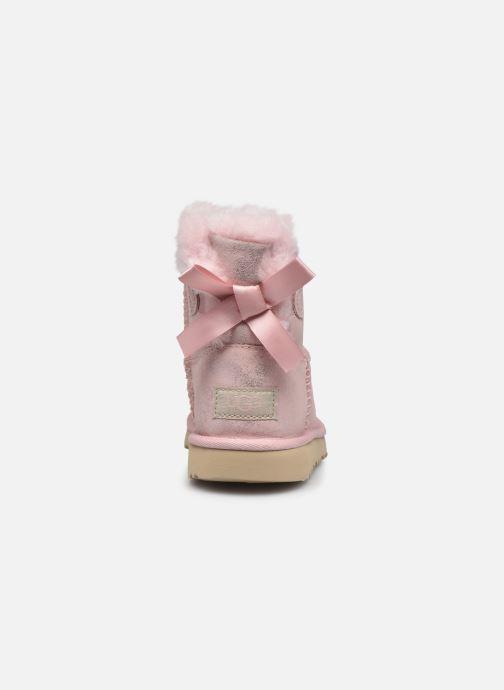 Stiefel UGG Mini Bailey Bow II Shimmer rosa ansicht von rechts
