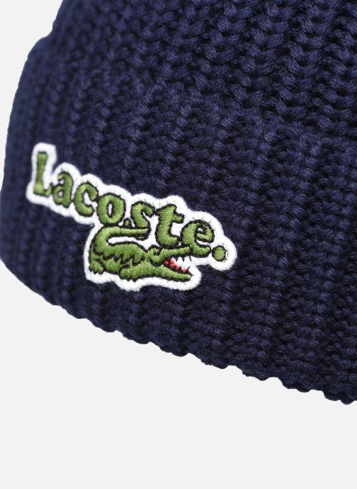 Berretto Lacoste Bonnet Kids Rb53 Azzurro immagine frontale