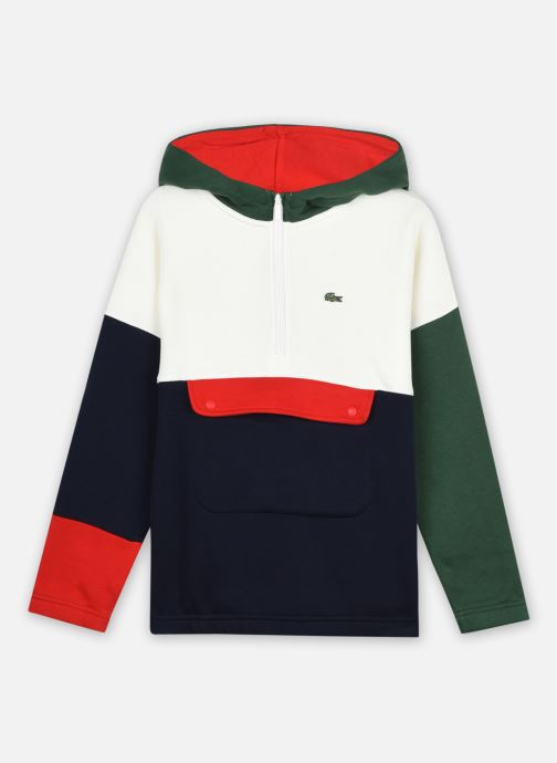 Kleding Lacoste Sweat-Shirt Enfant Sj31 Groen detail