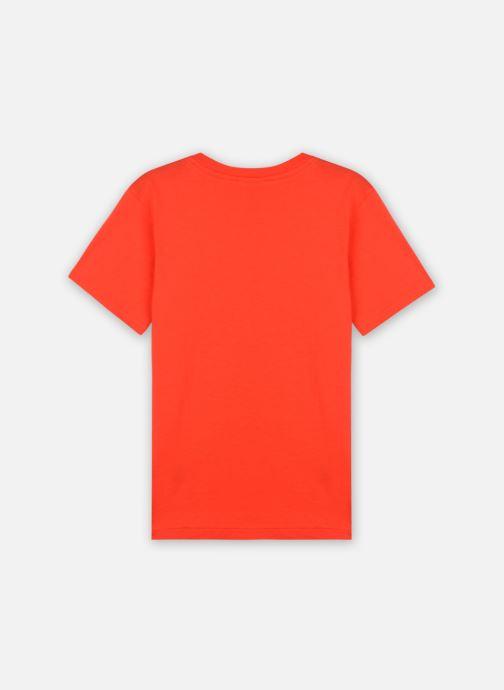Vêtements Lacoste Tee-Shirt Enfant Tj14 Rouge vue portées chaussures
