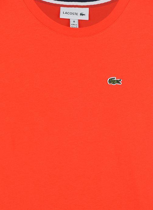 Vêtements Lacoste Tee-Shirt Enfant Tj14 Rouge vue face